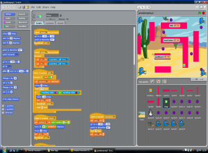 Using Scratch to teach programming.