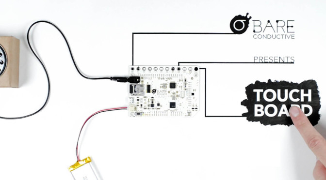 The touchboard. Developed from a Kickstarter project, it allows the Arduino to work by touch.