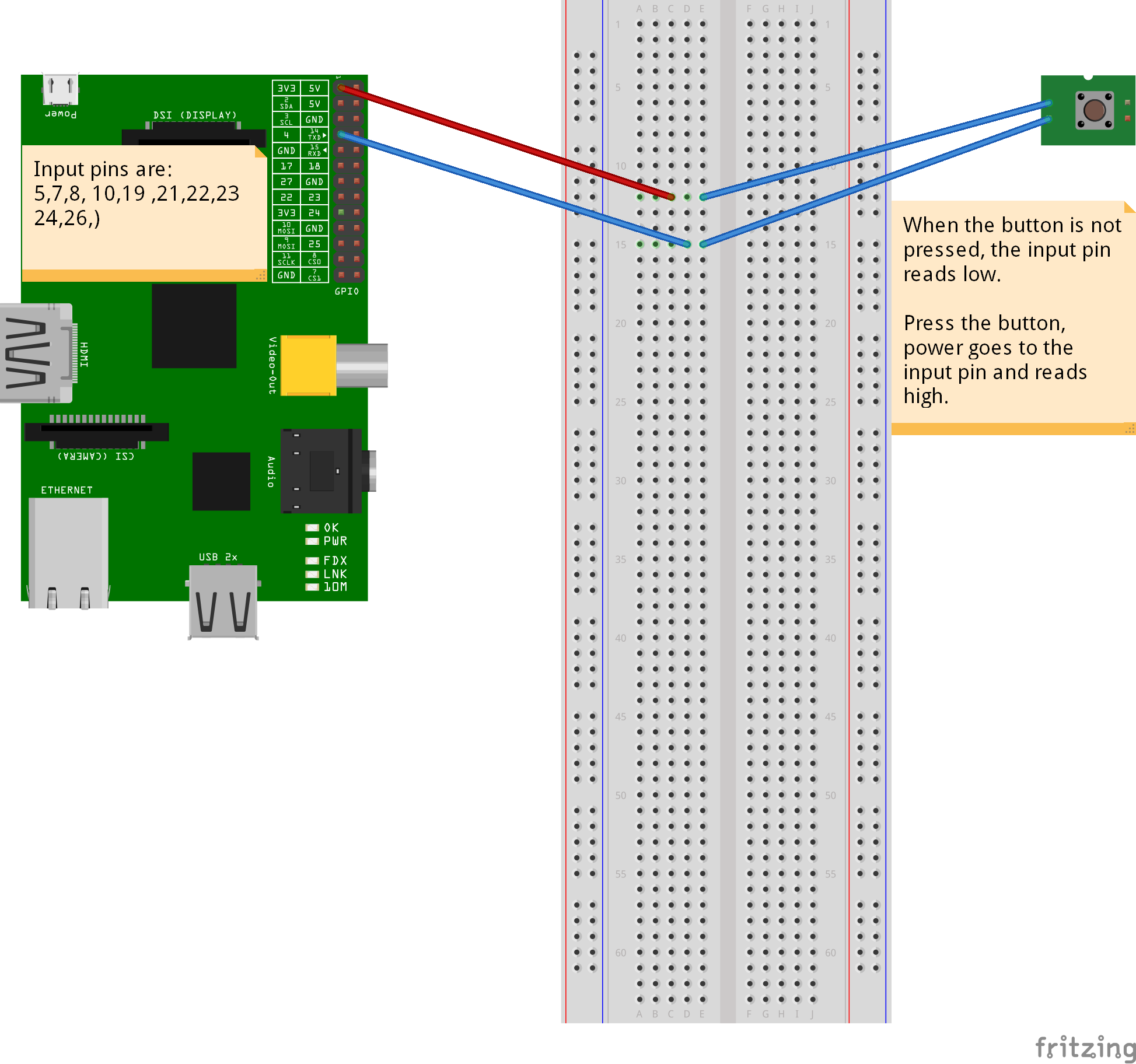 A Simple Switch With The Raspberry Pi And Scratch Gpio Scratchmypi Basic Wiring Diagram Pushuppi Bb