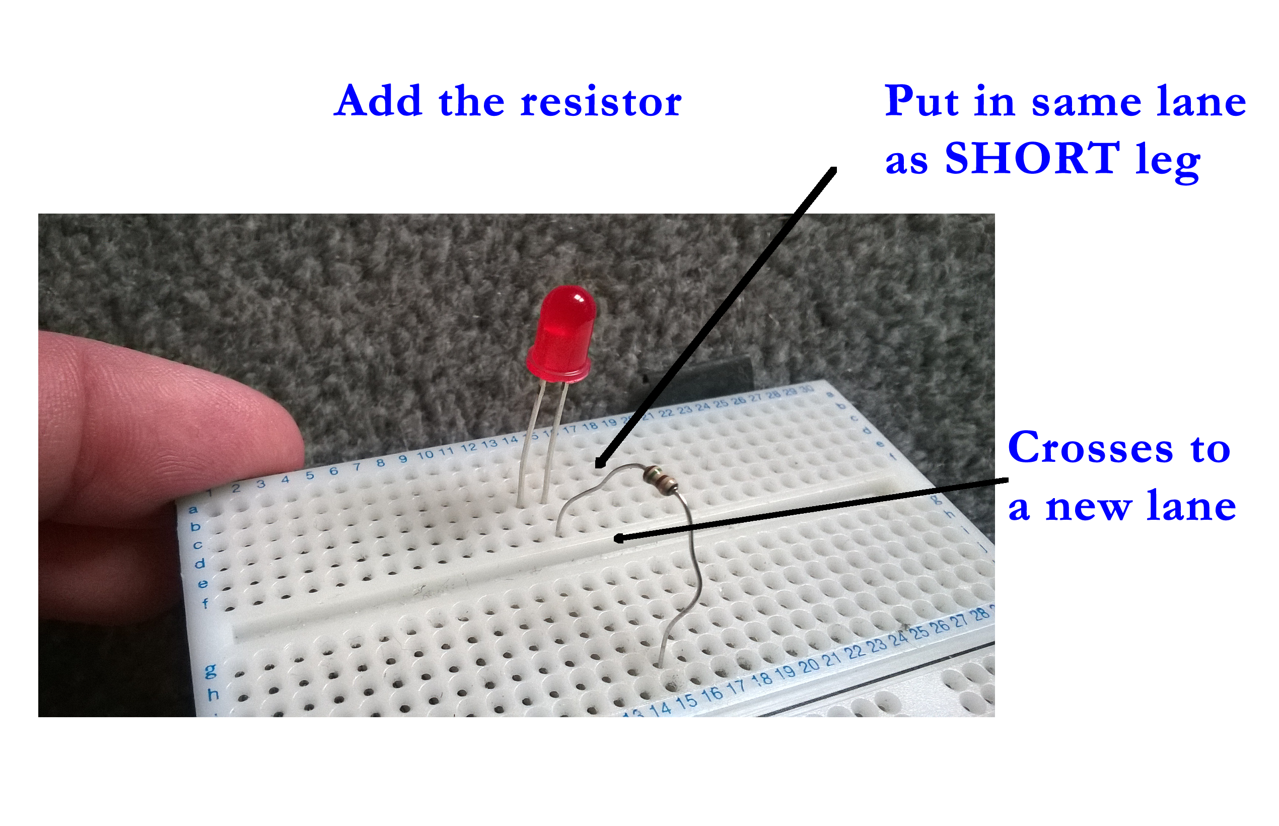 S4a Scratchmypi Simple Ldr Circuit The Role Of Resistor Is To Reduce Current Flowing Through Led